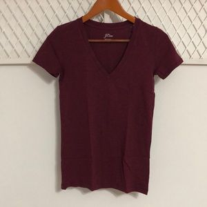 J. CREW V-Neck Cotton Tee Short Sleeve